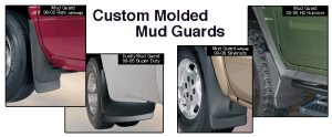 Custom molded mud guards